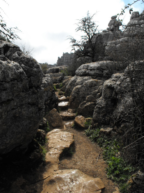A cosy little path at El Torcal