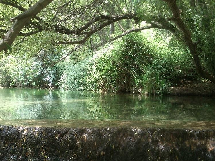 The natural pool near El Burgo